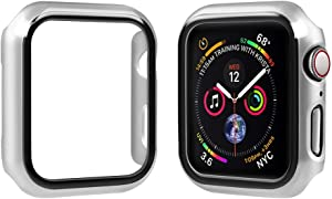top4cus Environmental PC Slim Lightweight Electroplated Protective Iwatch Case Protector Bumper Compatible Apple Watch Series 5 Series 4 Series 3 Series 1 Series 2 - Silver, 38mm
