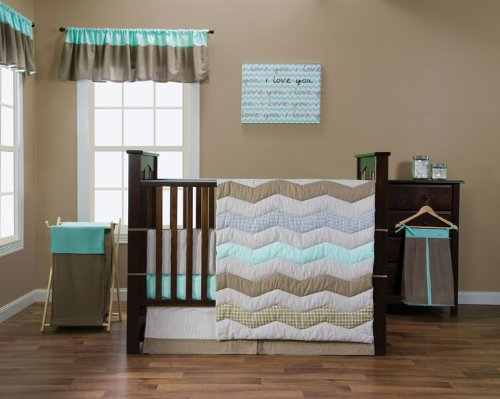 Trend Lab Cocoa Mint Baby 3 Piece Crib Bedding Set by Trend Lab   B00THOLEFA