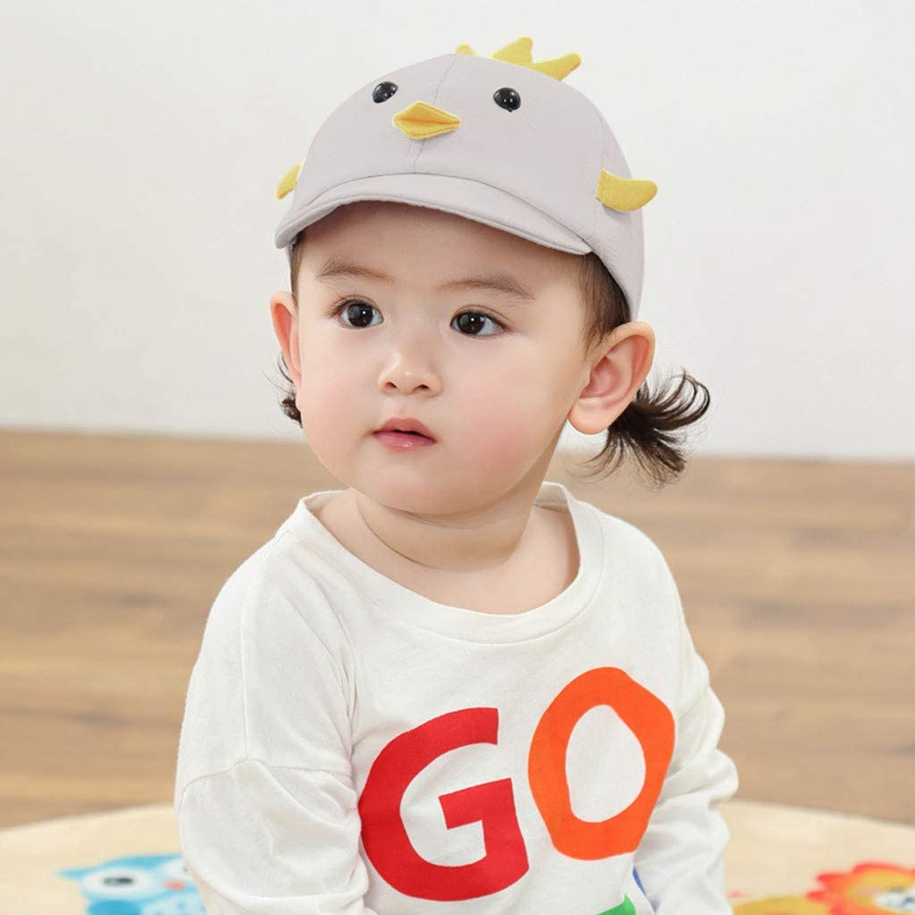 Toraway Baby Boys Girls Summer Cartoon Sun Protection Hat Sunscreen Cap Fishermans Hat Cute Sun hat for Kids