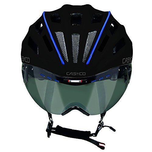 casco Speedster, Color Negro/Azul, Talla M, 54-58 cm