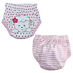 Skhls Baby Toddler 4 Layer Assortment Cotton Training Pants 2 Pack?Sheep 4T