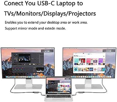 Amazon.com: Adaptador USB tipo C para MacBook Pro y Air Hub ...