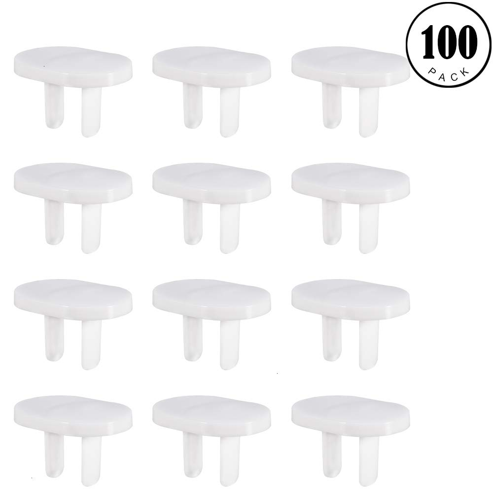 Gaiatop Outlet Covers, 100 Pcs Outlet Plug Covers Electric Socket Cover Keep Baby Safety Prevent Child Proof White