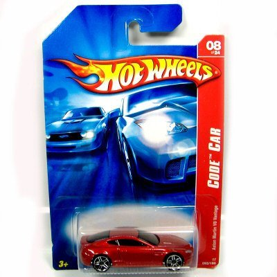Hot Wheels 2007-092 Code CAR Aston Martin V8 Vantage - Red #08 of 24