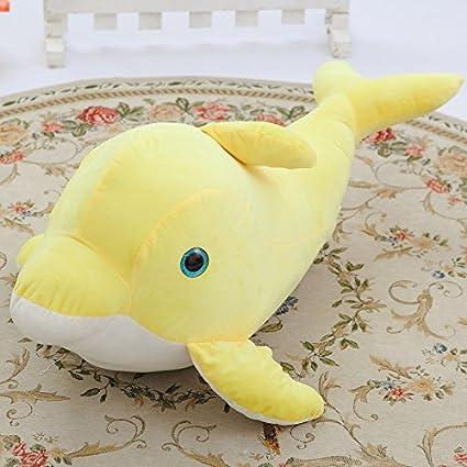 Bonito Delfín Peluche Cojín creativos delfines con ojos grandes muñeca San Valentín Cumpleaños Niña Niño Regalo