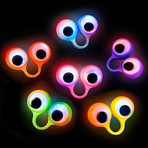 Lumistick Light-Up Flashing Finger Eye Puppet, 1 (Blinking Led Eyes Halloween)