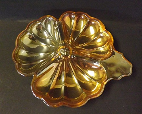 er Candy Dish Doric-iridescent Marigold Carnival Depression Glass Tray (Jeannette Depression Glass)