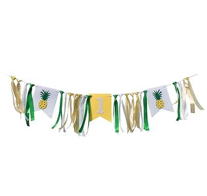 Amazon.com: Pancarta de piña para el primer cumpleaños ...