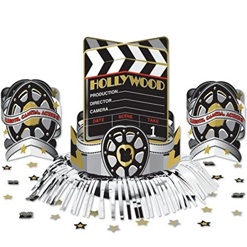 Amscan Movie Night Hollywood Themed Movie Night Table Centerpiece (1 Piece), Multi Color, 13.7 x (Hollywood Movie Costume And Props)