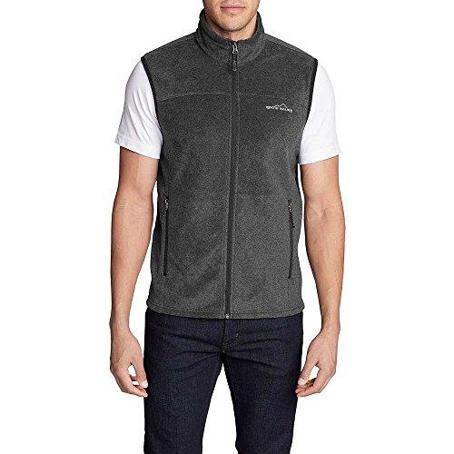 - Eddie Bauer Men's Quest 200 Fleece Vest, Charcoal HTR Regular L