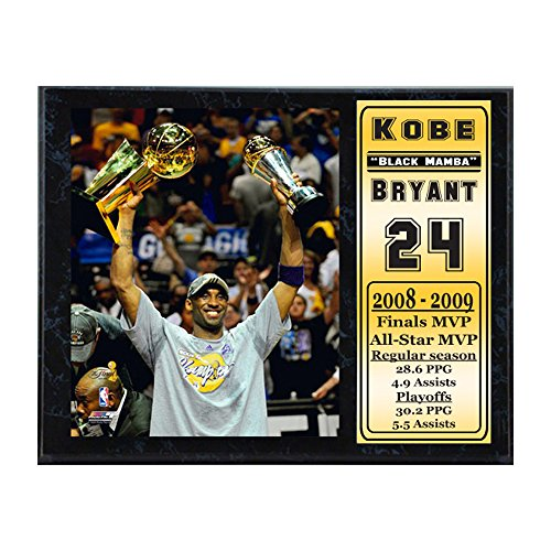 Kobe Bryant Mvp Trophy (Encore Select 522-14 NBA Los Angeles Lakers Kobe Bryant MVP Stats Plaque, 12-Inch by 15-Inch)