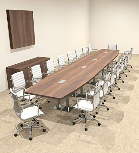 Modern Boat Shaped Steel Leg 20' Feet Conference Table, OF-CON-CM58