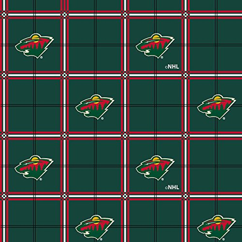 Minnesota Wild Flannel Fabric-Sold by The Yard