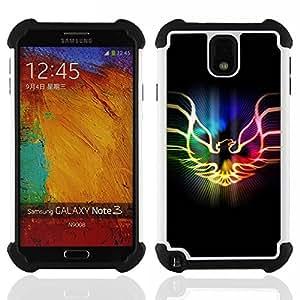 - Neon Flaming Phoenix - - Doble capa caja de la armadura Defender FOR Samsung Galaxy Note3 N9000 N9008V N9009 RetroCandy