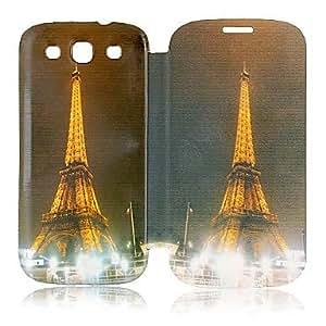 HC-Torre Eiffel Estilo estuche de cuero de cuerpo completo para Samsung S3 I9300
