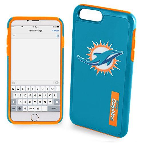 "Miami Dolphins Impact TPU 2-Piece Dual Hybrid iPhone 8 PLUS / iPhone 7 PLUS / iPhone 6 PLUS / 6s PLUS - 5.5"" Screen ONLY"