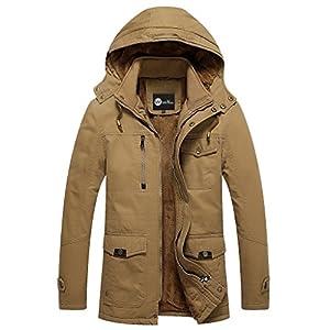 WenVen Men's Fall Cotton Casual Jacket