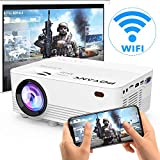 [Wireless Projector] POYANK 2800Lux LED Wireless Mini Projector, WiFi Projector Compatible with...