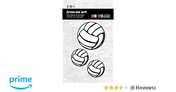 new IRON-ON APPLIQUE BEACH VOLLEY BALL EMBROIDERED FLAMING VOLLEYBALL PATCH
