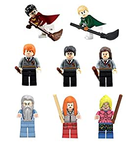 POGO Wizards in Training Block Set by Hermione, Dumbledore, Draco, Luna, Ron, Ginny and HP (8 pc)