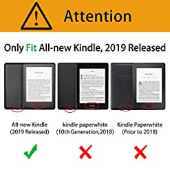 ELTD Case for All-new Kindle 10th Generation 2019 Release,Auto Wake/Sleep Flip Premium Slim light Shell Protective Cover Case for All-new Kindle 6 Inches 2019 (Black)