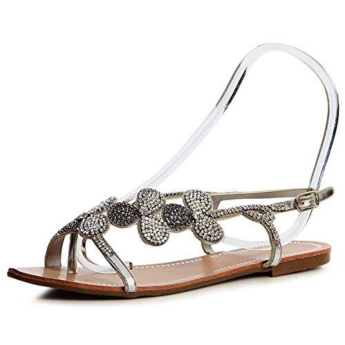 Argent Topschuhe24 Sandales Sandalettes Sandalettes Argent Femmes Femmes Topschuhe24 Sandales 8BaSxtw