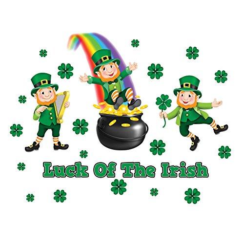 Set Decoration - Luck of the Irish Leprechauns & Shamrocks ()