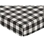 Sweet-Jojo-Designs-Black-and-White-Rustic-Farmhouse-Woodland-Flannel-Unisex-Boy-or-Girl-Baby-or-Toddler-Fitted-Crib-Sheet-for-Buffalo-Plaid-Check-Collection-Country-Lumberjack