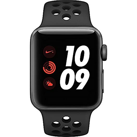 05f2a04a7a3f Image Unavailable. Image not available for. Color  Apple Watch Nike+ Series  3 38mm Smartwatch (GPS + Cellular