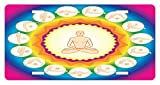 zaeshe3536658 Yoga License Plate, Yogi in The Lotus Posture and Exercises in SeveraPositions Surya Namaskar Vitality, High Gloss Aluminum Novelty Plate, 6 X 12 Inches.