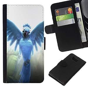 NEECELL GIFT forCITY // Billetera de cuero Caso Cubierta de protección Carcasa / Leather Wallet Case for Samsung ALPHA G850 // Pájaro del ángel
