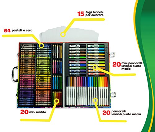 Crayola Inspiration Art Case: 140 Pieces, Art Set, Gifts for Kids, Age 4, 5, 6, by Crayola (Image #4)