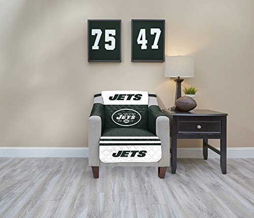 (Pegasus Sports NFL New York Jets Chair Waterproof Furniture Protectors with Pockets)