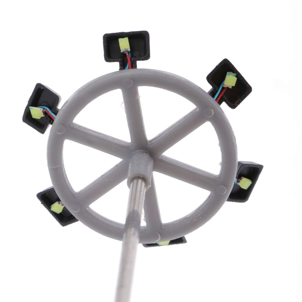 A sharprepublic 5X 1 87 Mini Lampadaires /à LED Lampe D/écoratifs D/écor pour Train Railway Architecture Rue Parc Ho /Échelle