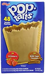 Kellogg\'s Pop-tarts Frosted Toaster Pastries, 24-Strawberries & 24-Brown Sugar Cinnamon-, 86 Ounce
