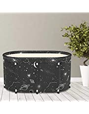 "KELIXU Portable Bathtub Foldable Soaking Bath Tub Thickening to Keep Temperature, Freestanding Bathtub for Adults, Home Bathroom Spa Hot Ice Bath Easy to Install, 43""x 25""x 20"", Black"