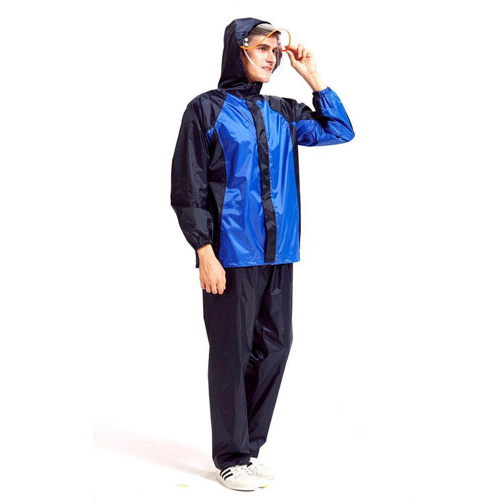 Aihifly tragbar Split Regenmantel Anzug im Freien Reiten wasserdicht atmungsaktiv Erwachsenen Poncho (Größe   XXXL)