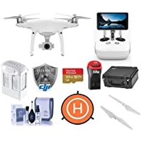DJI Phantom 4 Pro+ Quadcopter Drone with 5.5in FHD Screen Remote Controller - Bundle With 64GB MicroSDHC Card, DJI Care Refresh Warranty, Go Professional Carrying Case, Intelligent Battery, And More