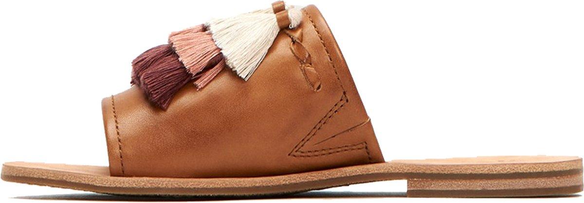 FRYE Women's Riley Tassel Slide Sneaker B074QTLLQB 6 B(M) US|Tan