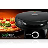 NutriChef PKPZM12_0 Pizza Maker, 7.53 lbs, Black
