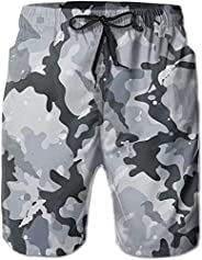 Han-Style Camouflage Color Mens Quick Dry Swim Trunks Beach Shorts