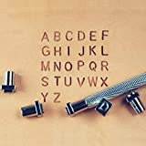 "OwnMy Capital Letters and Numbers Stamp Set, 1/4"" / 6mm Alphabet Stamp Tools Set Leather Craft Stamping Tools Leather Art Craft Tool"