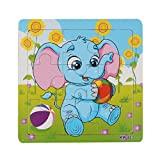FEITONG® Cute Wooden Elephant Jigsaw Toys For Kids Education And Learning Puzzles Toys