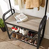 VASAGLE Coat Rack, Shoe Bench, Hall Tree with