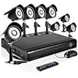 Zmodo 16CH Complete Video DVR Security Surveillance Camera System With 8 Outdoor Night Vision IR Camera With 1TB Hard Drive