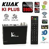 KUAK K1 PLUS DVB Smart Android TV Box DVB-T2 DVB-S2 Tuner Amlogic S905 Quad Core RAM 1G ROM 8G UHD 4K 60fps HW decoding Wifi 2.4G Set Top Box