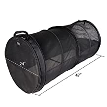 Petsfit 61cm H61cm W119.4cm L Car Crate Tube Kennel,Travel And Home Kennel/Carrier