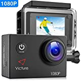 Victure Action Camera 1080P Full HD 12MP 30m Underwater Diving Camera 2 Inch LCD Screen 170° Wide-angle Sports Cam with 26 Mounting Accessories