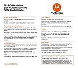 MOTOROLA MG7550 16x4 Cable Modem Plus AC1900 Dual