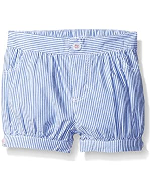 Baby Girls' Blue and White Striped Bubble Short